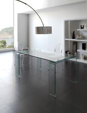 DT-06 Dupen Design Esstisch 160 cm Diner Tisch gehärtetes Glas Esszimmertisch