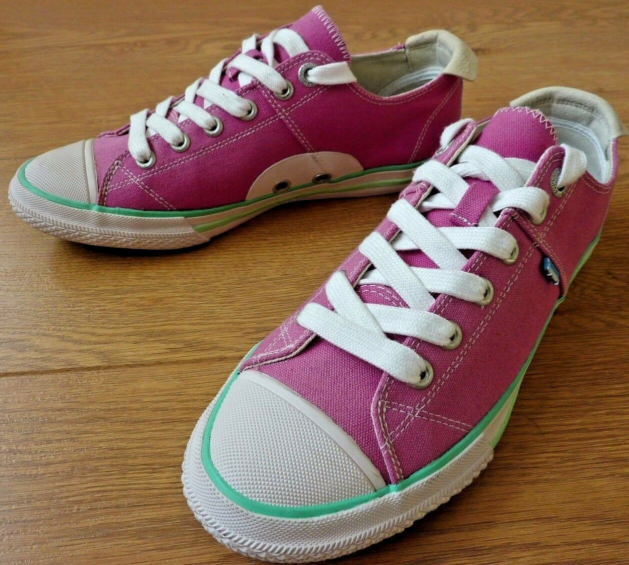 SuperDry Japan Super Series Low Lace up Pink Trainers shoes Size US 8