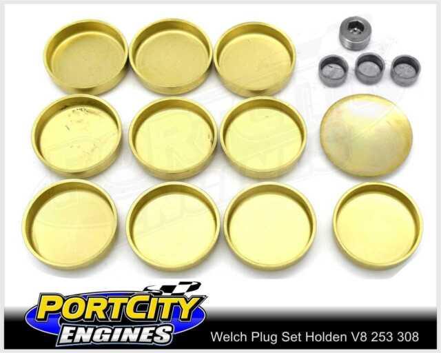 Welch Welsh Brass Core Plug Kit Set for Holden V8 253 308 355 5.0L 5.7L WPK-H308