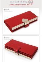 [OMNIA]Crystal Ladies Clutch Genuine Leather Purse Long Wallet Trifo369L