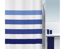 Four Blue -Blau Textil Duschvorhang 180 x 200 cm. Markenware Blue Shower Curtain