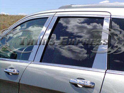 2007-2013 Mitsubishi Outlander 6Pc Chrome Pillar Post Stainless Steel Trim Door
