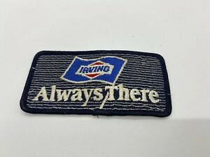 Vintage-Irving-Gasoline-Patch-Embroidered-Oil-3-3-4-034-inch-Original-Always-There