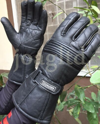 Thermal Motorbike Motorcycle Leather Gloves Protection Winter Summer Gloves