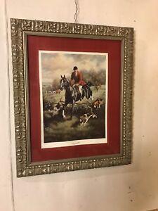 Print-Framed-034-Gentleman-Hunt-Signed-JudithGibson28-034-x34-034-C11pix4details-MAKE-OFFER