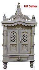 """Savan Wood Hindu Temple Sevan Wood Puja Mandir 18""""(W) x 9""""(D)x34.5""""(H)_UK Seller"""