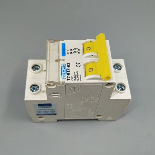 2P DC Direct-Current 600V Circuit breaker MCB C Curve Single Pole Fuse for PV
