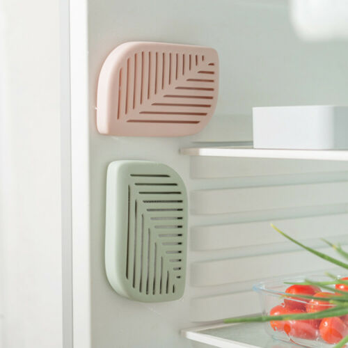 3 Pcs Leaf Shape Fridge Activated Carbon Deodorant Box with Suction Cup