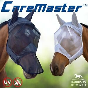 Harrison-Howard-horse-Fly-Mask-Hood-full-face-mesh-Fleece-padded-Anti-UV-Free-PP
