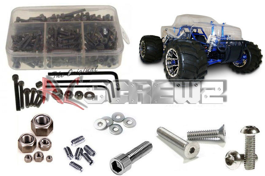 RC Screwz RCR001  rossocat Racing Rampage MT completare Stainless Hardware kit  risposte rapide