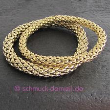 Quoins Armband elastisch - Edelstahl GELBGOLD - ONE SIZE - 6 mm Durchmesser