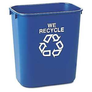 Rubbermaid-Commercial-Desk-Recycling-Recycle-Container-Trash-Garbage-Can-Blue