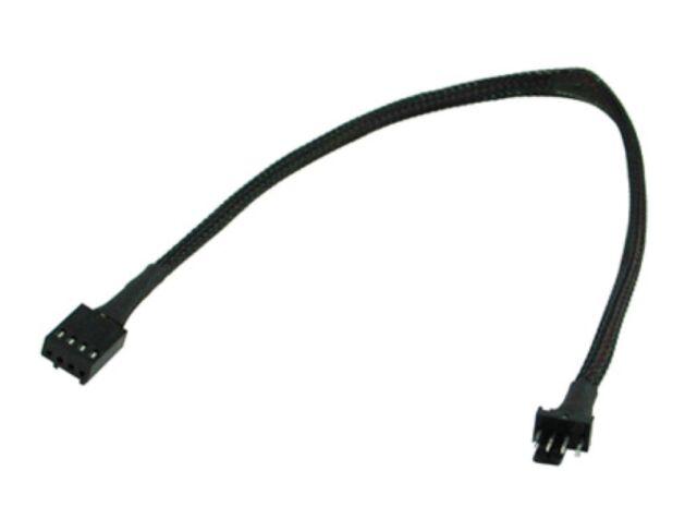 OKgear Computer Fan 4-pin PWM 12 inch Extension - Black Sleeved