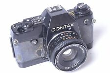 CONTAX, 'YASHICA' 137 MD QUARTZ SLR 35MM CAMERA. W/ YASHICA 50MM 2.0 LENS.