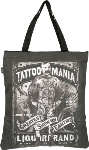 Liquor Brand TATTOO MANIA Oldschool Tattooed Man Shopping Bag TASCHE Rockabilly