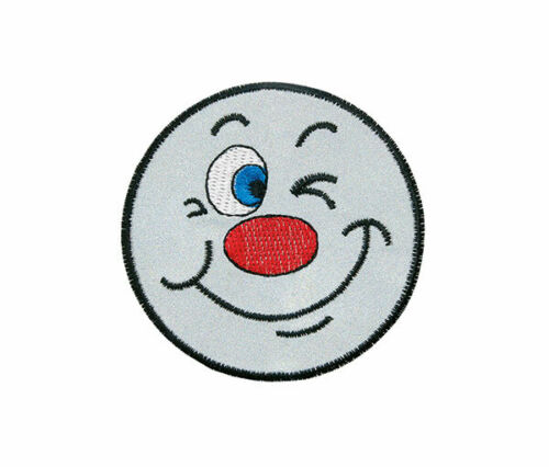 Aufbügler♥Bügelmotiv♥Applikation Patch♥ Gesicht Reflex Sticker ♥Aufnäher ♥NEU