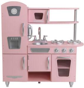 Details about KidKraft Pink Vintage Play Kitchen Set Kids Girl Toy Gift