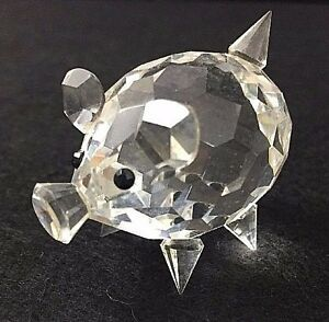 Crystal Glass Figurine Pig Piglet Small Pointed Tail Prism Miniature