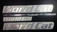 "World Cat boat Emblem 22"" Epoxy Sticker Resistant to mechanical shocks Vinyl"