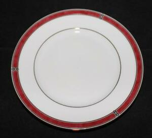Christofle-Porcelain-China-OCEANA-ROUGE-Red-7621-Bread-Plate-6-1-4-034