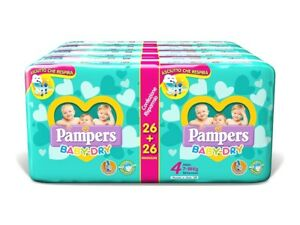 Pampers Baby Dry Duo Maxi 208 Pannolini Taglia 4 (7-18 kg) Asciutto...