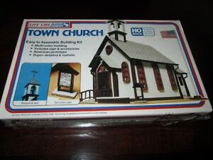 Details about Life-Like TOWN CHURCH HO Scale Steeple Bell Sign KIT Tools  SEALED Model Train