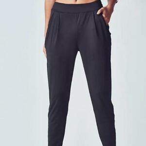 b82eca29944db3 Image is loading FABLETICS-BLACK-ARTEMIS-ATHLEISURE-SLOUCHY-JOGGERS -PANTS-RELAXED-