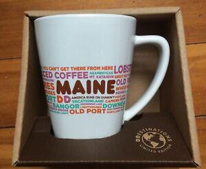Dunkin Donut MAINE DD Destinations Coffee Tea Cup Mug 12 oz Limited Ed Orig Box