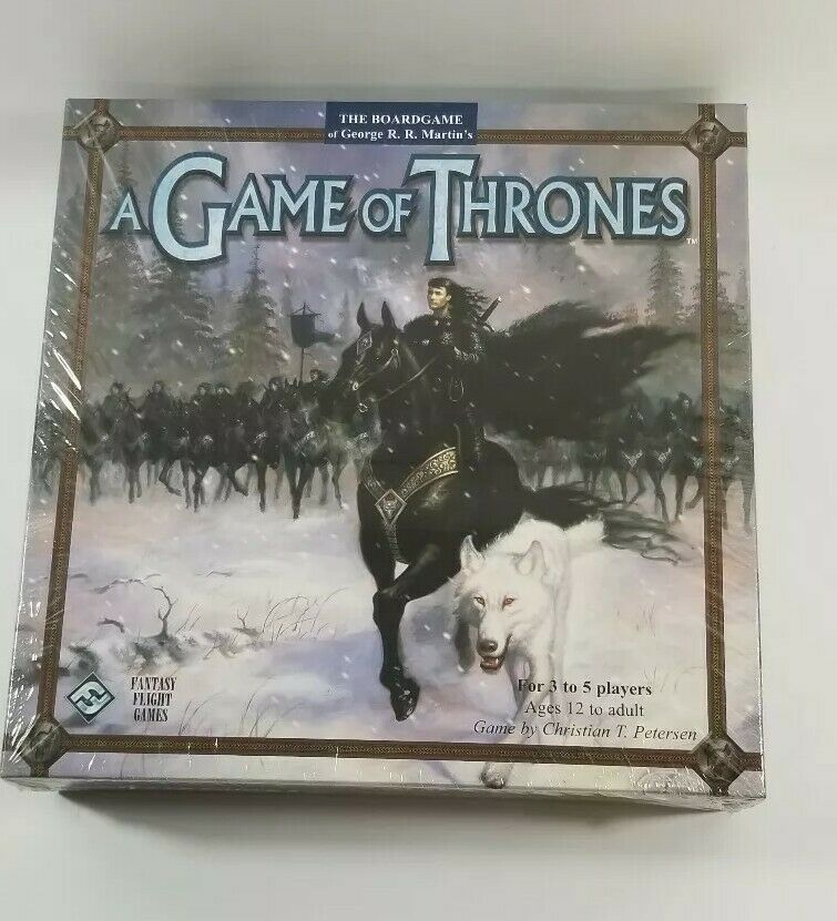 Game of Thrones Board Game Fantasy Flight Games 1st Edition RARE NEW SEALED