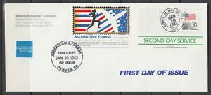 US-1983-American-Express-Semi-Official-Air-Letter-FDC-Second-Day-Service