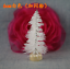 5X-Mini-Sisal-Bottle-Brush-Christmas-Tree-Snow-Frost-Santa-Village-Putz-House-hi miniatura 12