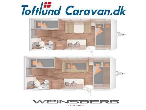 Weinsberg CaraOne 550 QDK, 2019, kg egenvægt 1236
