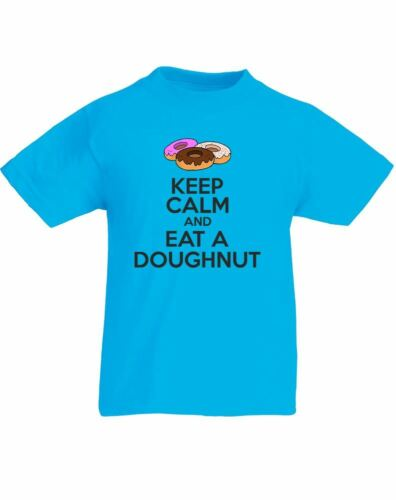 Keep Calm And Eat A Doughnut Kids Printed T-Shirt