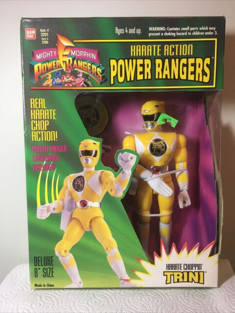 KARATE ACTION POWER RANGERS - KARATE Choppin' Trini - Yellow Ranger 1994 Bandai