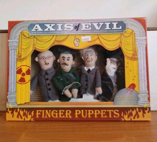Axis Of Evil Finger Puppets Kim Jong ll Bush /& Ayatollah K. Saddam Hussein