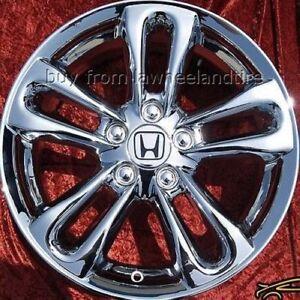 Honda Factory Rims >> Details About Exchange Set Of 4 Chrome 17 Honda Civic Si Oem Factory Wheels Rims 63901
