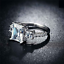 1-75Ct-Radiant-Cut-Diamond-Accent-Solitaire-Engagement-Ring-18K-White-Gold-Over thumbnail 3