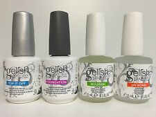 "Gelish Harmony ""Fantastic Four"" BASE COAT/ TOP COAT/PH BOND/NOURISH OIL 0.5oz"