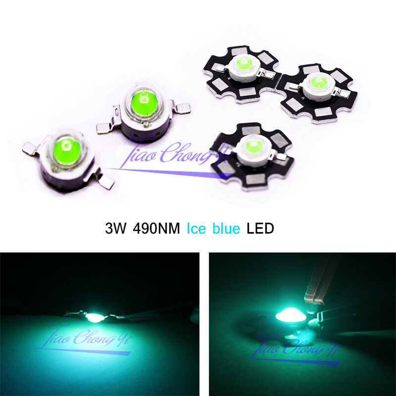 1 10 20 50 100pcs 3W High Power UV ultraviolet  395nm  LED Lamp  light-emitting