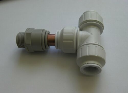 ACCUMULATOR TANK WATER SYSTEMS SPEED FIT CONVERSION KIT PLASTIC WITH 15mm TEE.