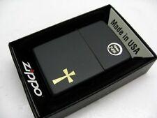 ZIPPO Full Size Black Matte Finish CROSS Classic Windproof Lighter! 24721