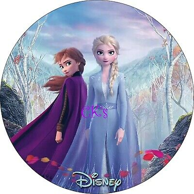 FROZEN 2 Cupcake Toppers// Birthday// Party Elsa Ana 7 Inch Edible Image Cake