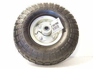 "10"" Tire & Rim Assembly_4.10/<wbr/>3.50-4_Load Range B(300lbs.)Hand Truck_Wheel Barrow"