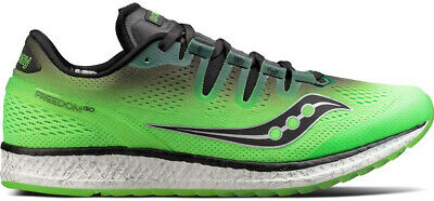 Saucony Freedom ISO Mens Running Shoes Green UK 7 7.5 8 8.5 Run Trainers