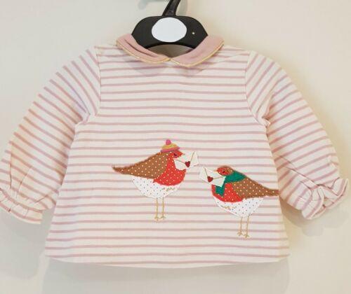Baby Boden Filles à Manches Longues Top Noël Robin ou fleur Bunny entièrement neuf sans étiquette
