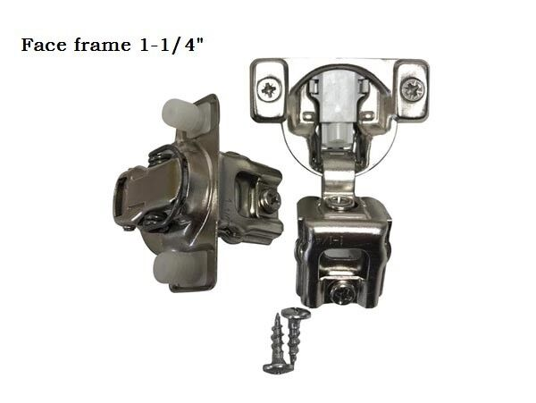 ONUS 2D Soft Close Compact Hinge 1-1 4'' full overlay Face frame Cabinet Hinges