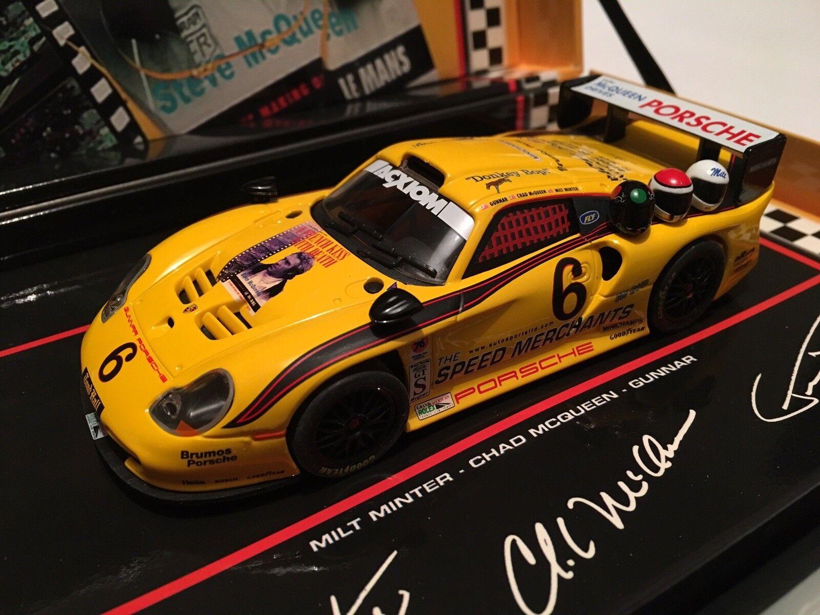 Fly Slot Car Ref 96037 Porsche 911 GY Evo Daytona Finale 2003 Steve McQueen.