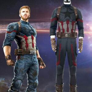 Avengers Infinity War Captain America Costume Steve Rogers Uniform