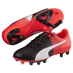 a9de3c3e55 Kids Puma Evospeed 5.5 Tricks FG Cleated Soccer Shoe Black Red 4.5 ...