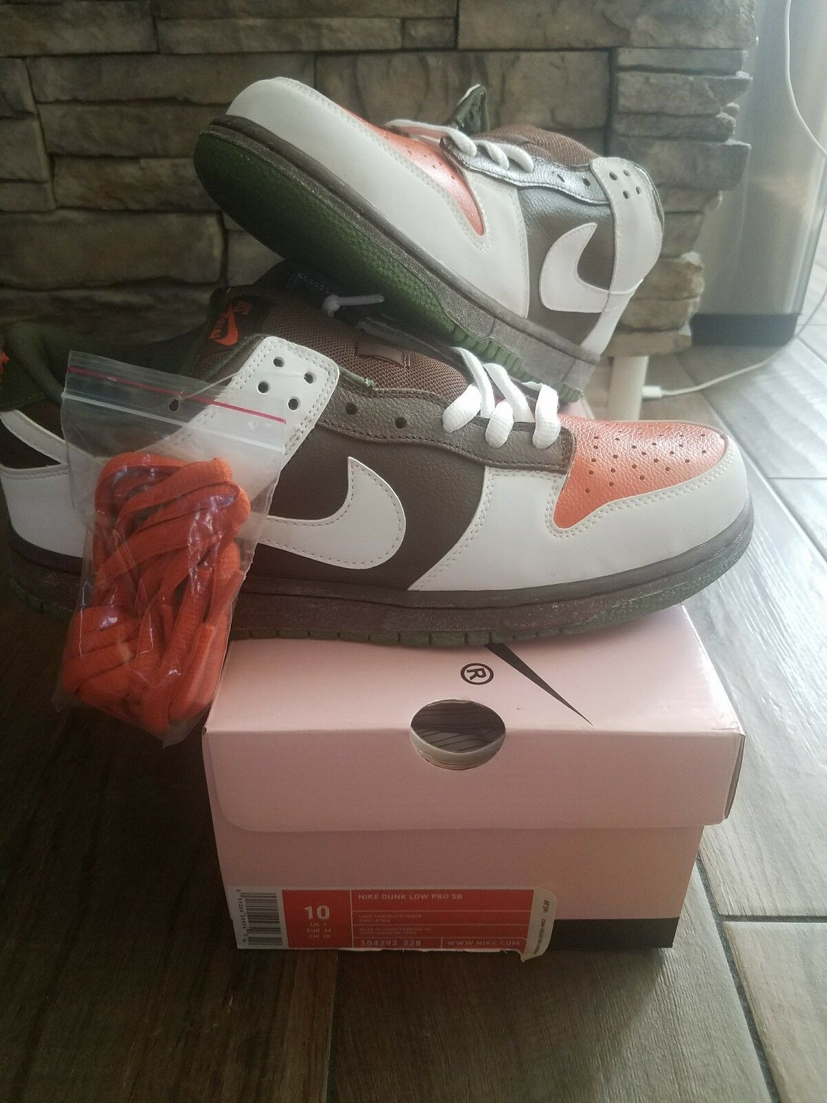 Nike Dunk Low Pro SB  size 10  304292 228 DS QS authentic oompa loompa vintage